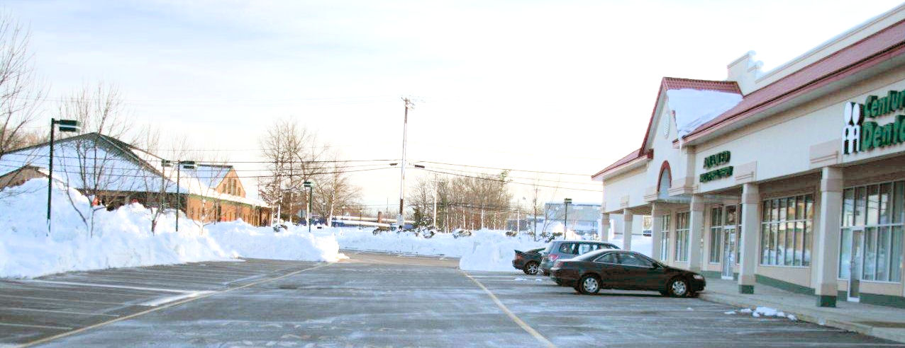 Completely plowed commercial lot
